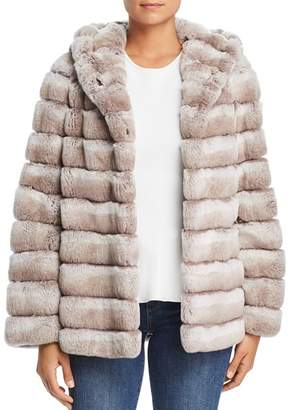Maximilian Furs Hooded Rabbit Fur Coat - 100% Exclusive