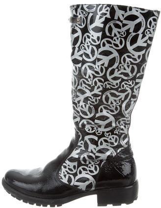 MoschinoMoschino Metallic Knee-High Boots