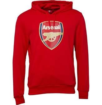 212639762 Puma Mens AFC Arsenal Royal Crest Hoodie High Risk Red