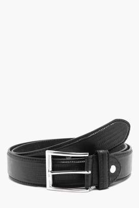 boohoo Croc Effect PU Belt with Leather Lining