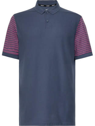 Nike Striped Dri-Fit Piqué Golf Polo Shirt