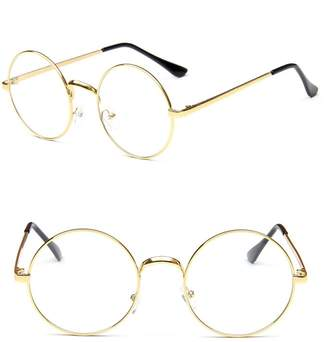 Nuni Classic Metal Wire Frame Round Eyeglasses Size (, transparent)