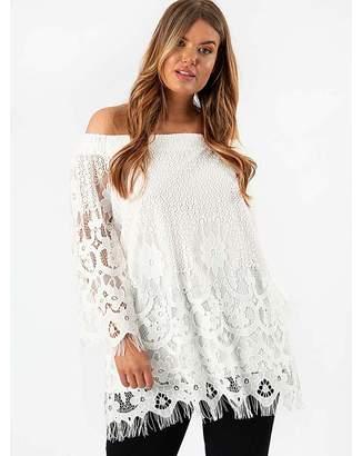 84ee6cd2245 Bardot Lovedrobe Gb Lovedrobe GB Ivory Lace Top