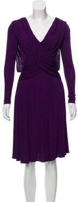 Halston Long Sleeve A-Line Dress w/ Tags