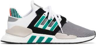 adidas white and grey EQT support 91/18 sneakers