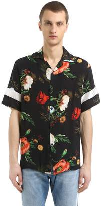 Floral Printed Fluid Viscose Shirt