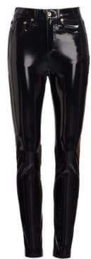 Rag & Bone High-Rise Patent Skinny Jeans