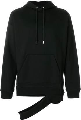 Helmut Lang ripped hem hoodie