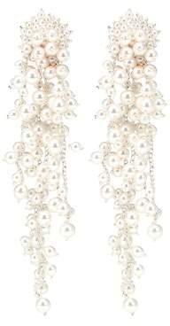 Oscar de la Renta Faux pearl drop earrings