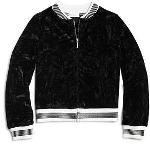 Design History Girls' Crushed Velvet Bomber Jacket - Big Kid
