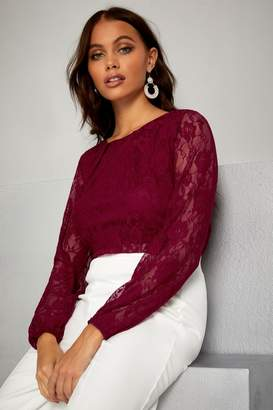 Next Womens Mela London Lace Long Sleeve Top