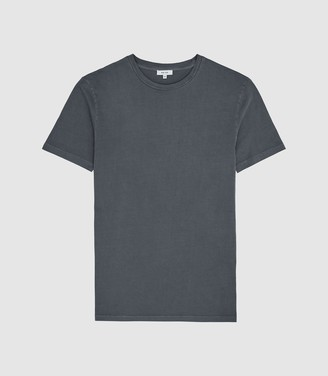 Reiss Heath - Garment Dyed T-shirt in Washed Indigo