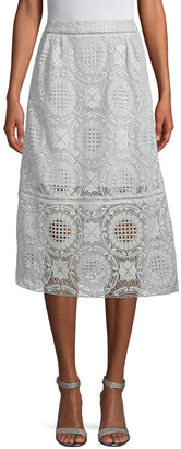 Paul & Joe Sister Flavia Lace Midi Skirt