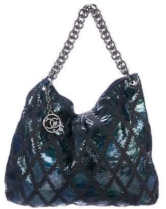 Chanel Python Soft & Chain Hobo