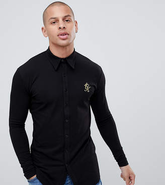 Asos Gym King muscle long sleeve shirt in black exclusive to
