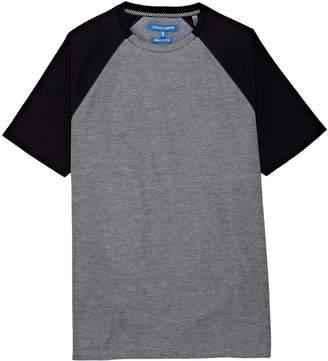 Vince Camuto Mixed-material Raglan-sleeve T-shirt