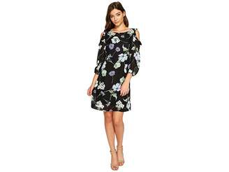 Christin Michaels Juliet Long Sleeve Printed Dress Women's Dress