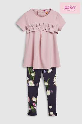 Next Girls baker by Ted Baker Toddler Frill Top And Floral Legging Set