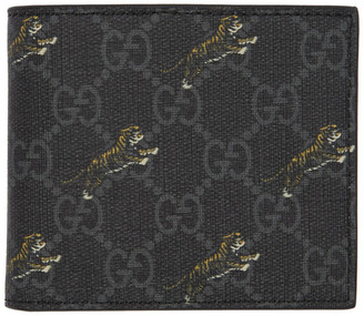 Gucci Black GG Supreme Tiger Wallet