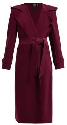 Norma Kamali Tie Waist Trench Coat - Womens - Burgundy