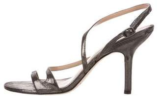 Via Spiga Metallic Suede Sandals