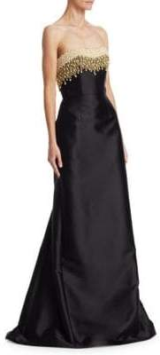 Rubin Singer Strapless Embellished Gown