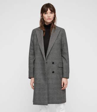 AllSaints Paityn Check Coat