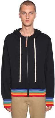Loewe Rainbow Printed Zip-Up Sweatshirt Hoodie