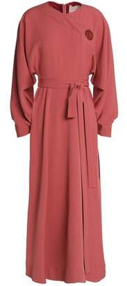 Roksanda Wrap-Effect Button-Detailed Crepe Midi Dress