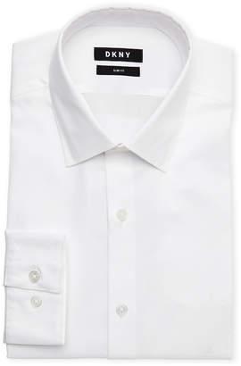 DKNY White Slim Fit Dress Shirt