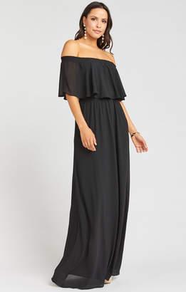 Show Me Your Mumu Hacienda Maxi Dress ~ Black Chiffon