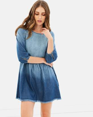 Only Sonia 3/4 Sleeve Denim Dress