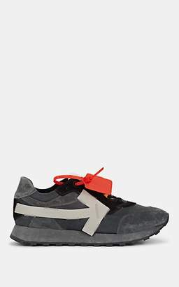 Off-White Men's Arrow-Appliqué Suede & Leather Sneakers - Dark Gray