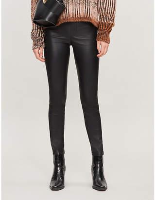BA&SH Quartz skinny high-rise leather trousers