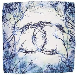 Chanel Tree Print Silk Scarf