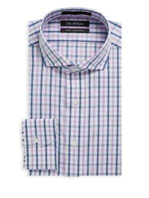 Saks Fifth Avenue Check Cotton Dress Shirt
