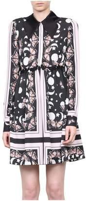 Giamba Crepe De Chine Belted Dress