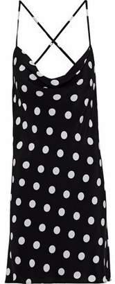 Michelle Mason Polka-Dot Silk Mini Slip Dress