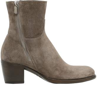 Rocco P. 40mm Zipped Suede Ankle Boots