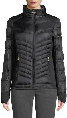 MICHAEL Michael Kors Down Fill Faux-Fur Hooded Puffer Jacket