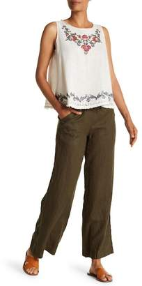 Max Studio Wide Leg Drawstring Linen Pants