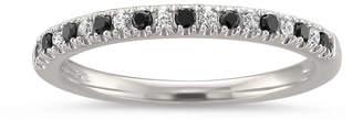 Black Diamond MODERN BRIDE Womens 1/4 CT. T.W. White & Color Enhanced 14K Gold Wedding Band