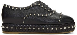 Charlotte Olympia Black Studded Hoxton Oxfords