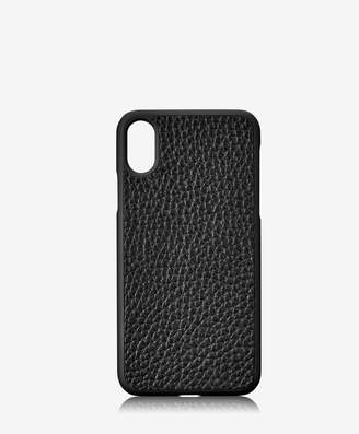 GiGi New York iPhone X Hard-Shell Case, Black Pebble Grain