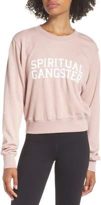 Spiritual Gangster Varsity Crop Sweatshirt