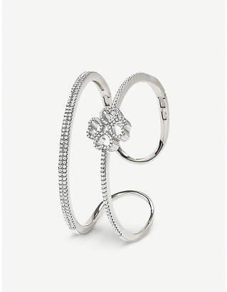 Folli Follie Miss Heart4Heart silver and zirconia cuff bracelet