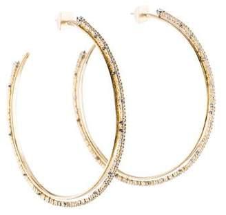 Alexis Bittar Large Crystal Hoop Earrings