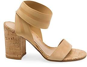Gianvito Rossi Women's Cork Block Heel Sandals