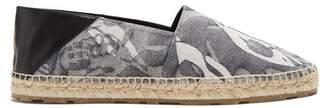Alexander Mcqueen - Abstract Jacquard Foldable Heel Espadrilles - Mens - Grey