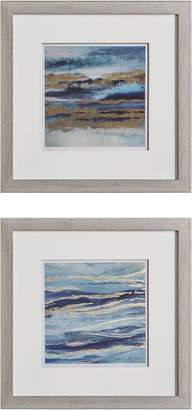 Castle Road Interiors Layer Waves Framed Wall Art (Set of 2)
